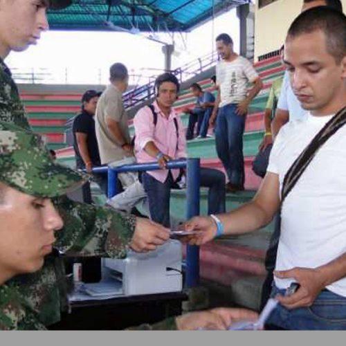 Más de 300 jóvenes de Argelia, Nariño y Sonsón se beneficiaron con jornada de expedición de la Libreta Militar