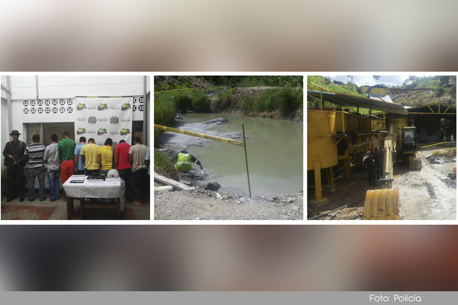 Photo of Capturadas 9 personas por minería ilegal en el municipio de San Rafael