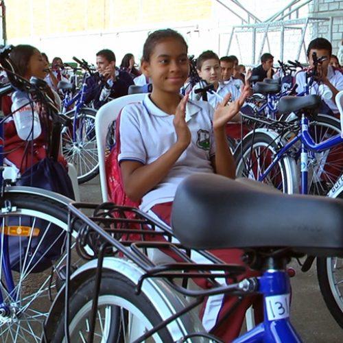 Se entregaron 187 bicicletas a estudiantes de Instituciones Educativas de la zona rural de Rionegro