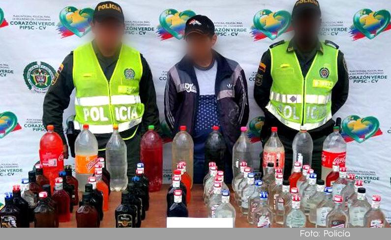 Photo of Policía incautó licor adulterado en el municipio de Guarne