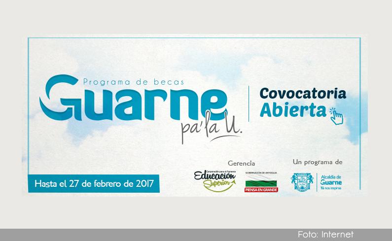 Photo of Abierta la convocatoria para el programa de becas Guarne pa` la U