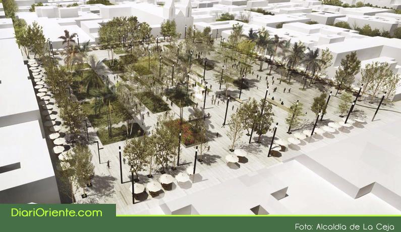 Photo of Los Nuevos diseños de la remodelación del parque principal de La Ceja, causan polémica en las redes sociales