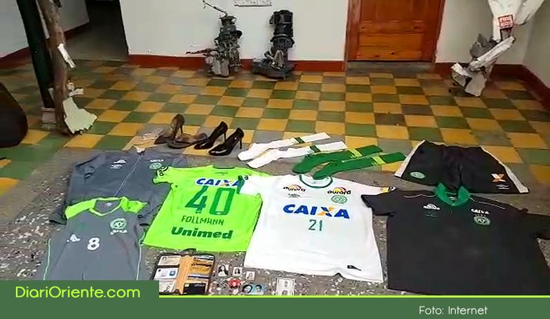 Photo of En La Unión se guardan aún más de 100 elementos del Chapecoense, que se entregarán el 10 de mayo para que se vayan a Brasil.