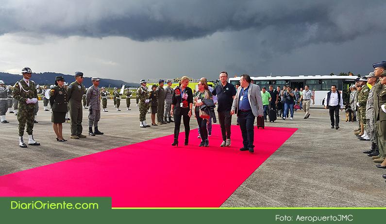 Photo of En la Base Aérea de Rionegro, fue recibido con honores el Chapecoense