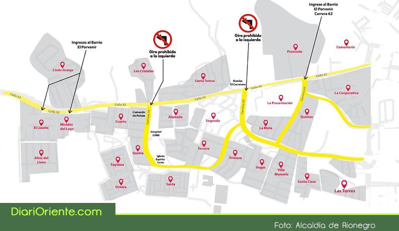 Photo of Conozca cuáles son los cambios en algunas vías del municipio, que anunció la Alcaldía de Rionegro
