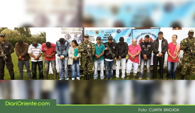 """Photo of Capturan once integrantes de la banda delincuencial """"Odín Trianón"""" que operaban en el Oriente Antioqueño."""