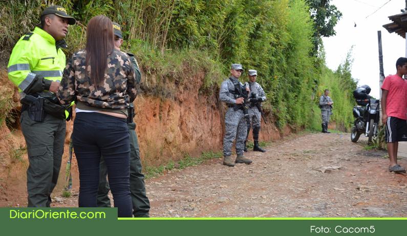 Photo of Con apoyo de la Fuerza Aérea se realizó en Rionegro jornada de control a establecimientos comerciales de la zona rural