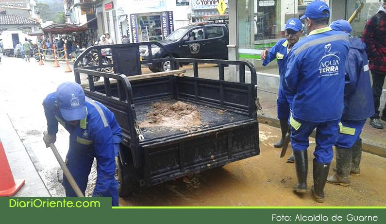Photo of Fuerte aguacero en la tarde del martes provocó inundaciones en varios sectores de Guarne