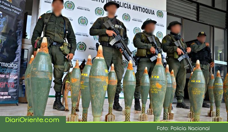 Photo of En zona rural de Sonsón fue hallada una caleta con 26 granadas de mortero.