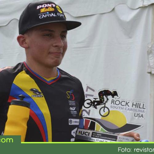 El guarceño Juan Camilo Ramírez ganó el primer oro para Colombia en el Campeonato Mundial de BMX.