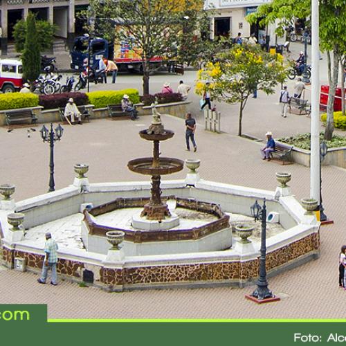 Será restaurada la fuente del parque principal de Abejorral, que tiene más de 120 años de historia.
