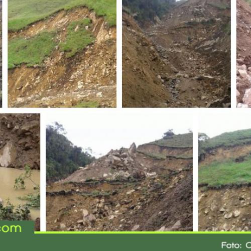 Preocupación por riesgo de deslizamiento en el municipio de Nariño