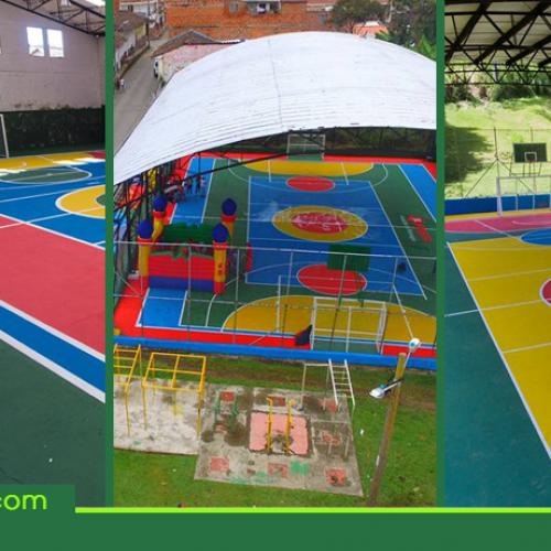 A la fecha se han transformado con color 27 placas polideportivas de Rionegro