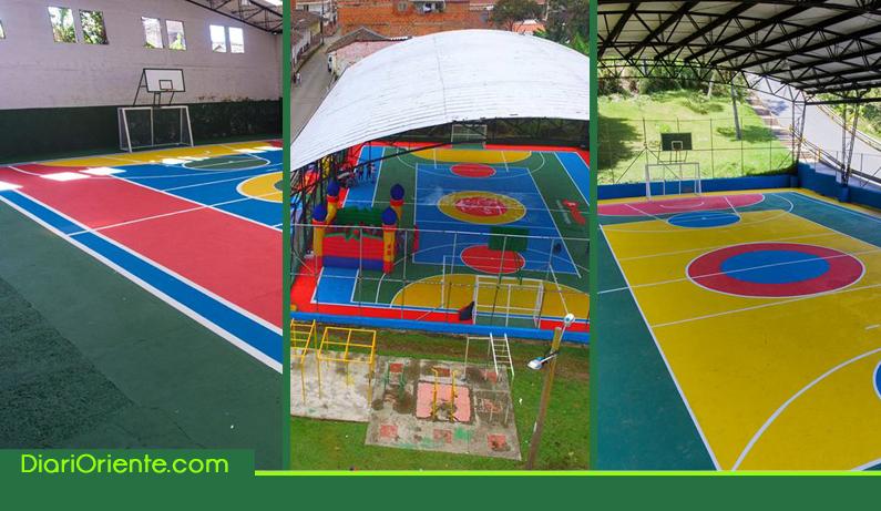 Photo of A la fecha se han transformado con color 27 placas polideportivas de Rionegro