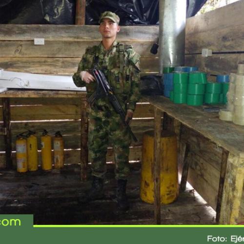 """Desmantelan otro laboratorio de cocaína del """"Clan del Golfo"""" en el Oriente Antioqueño"""