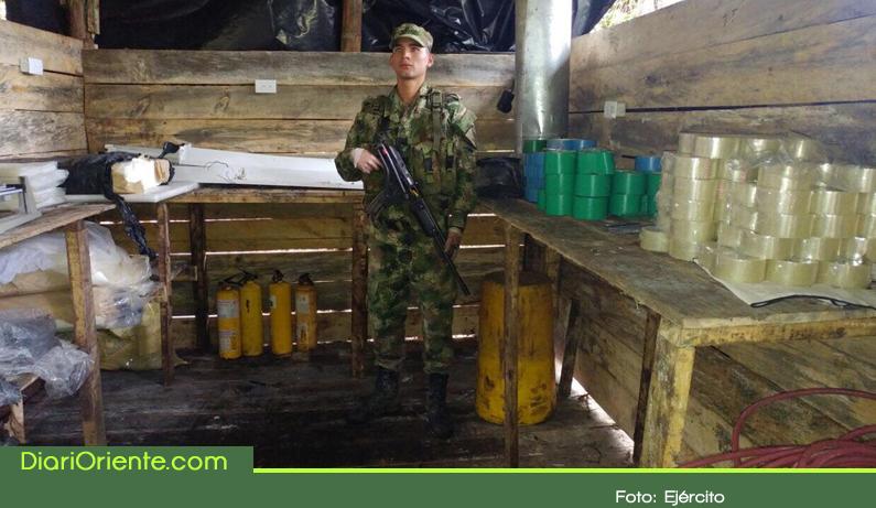 Photo of Desmantelan otro laboratorio de cocaína del «Clan del Golfo» en el Oriente Antioqueño