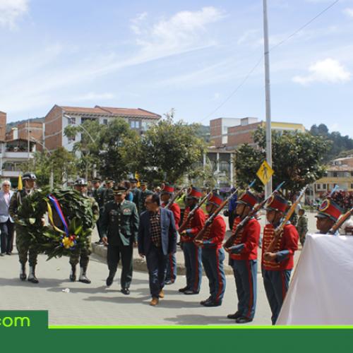 En El Santuario se conmemoraron 188 años de la muerte del General José María Córdova