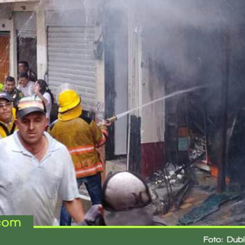Solo pérdidas materiales dejó incendio en bodega en el municipio de Granada