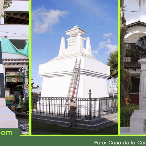 En Rionegro se realizan trabajos de restauración a monumentos y emblemas históricos.