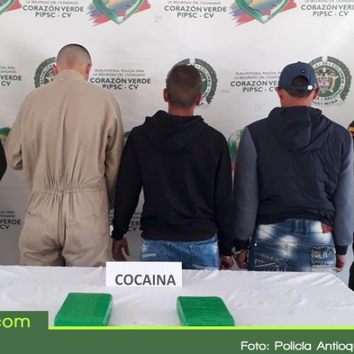 Capturados tres militares con cocaína en La Ceja