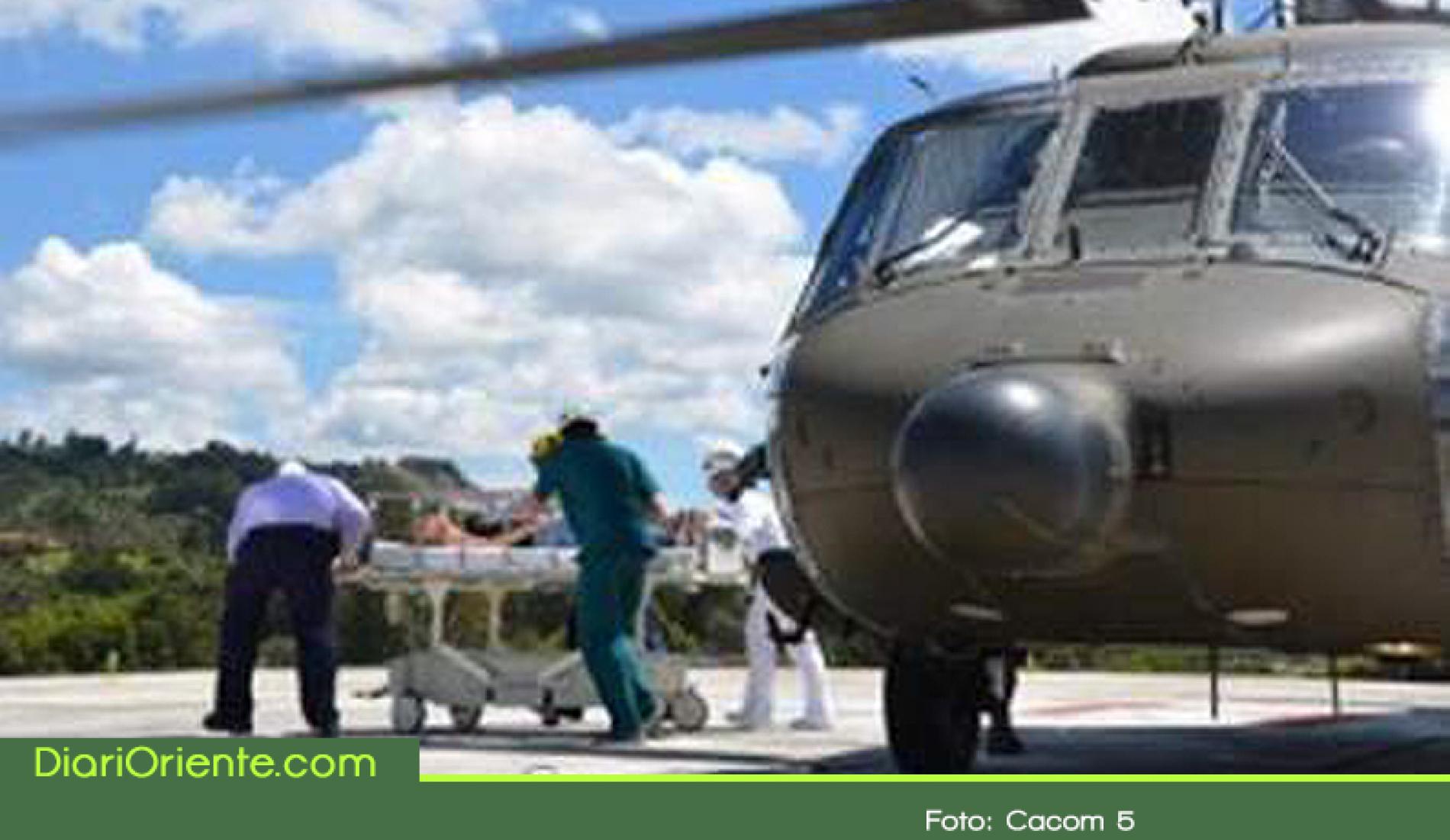 Por aire evacúan a un hombre en grave estado de salud en Ituango