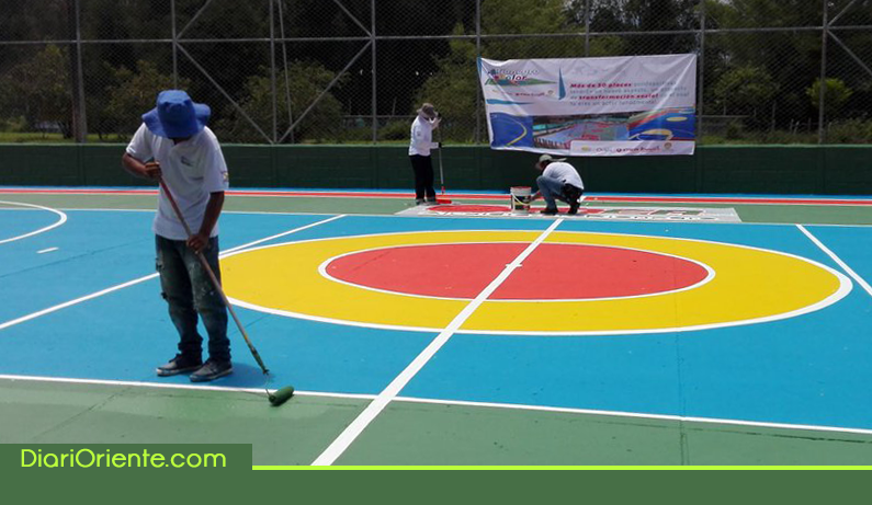 Photo of Rionegro a Color termina con éxito el proceso transformación de 58 placas polideportivas