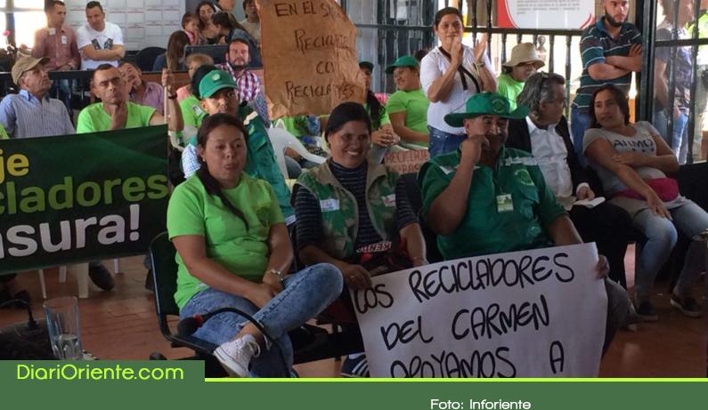 Photo of En Rionegro los recicladores reclaman garantías e igualdad