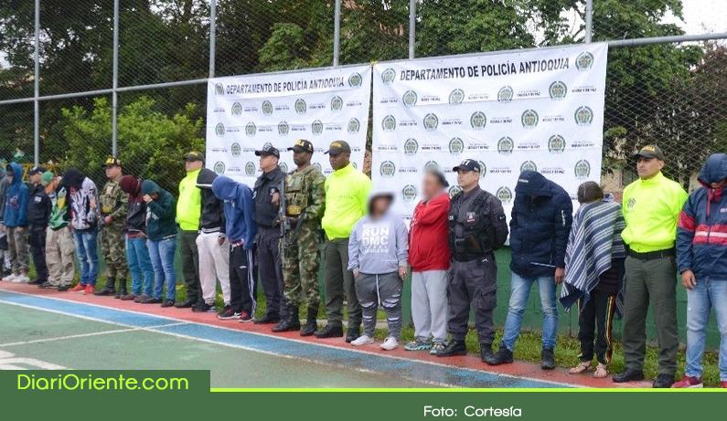Photo of Capturados en Rionegro 20 integrantes de 'La Oficina de Oriente'
