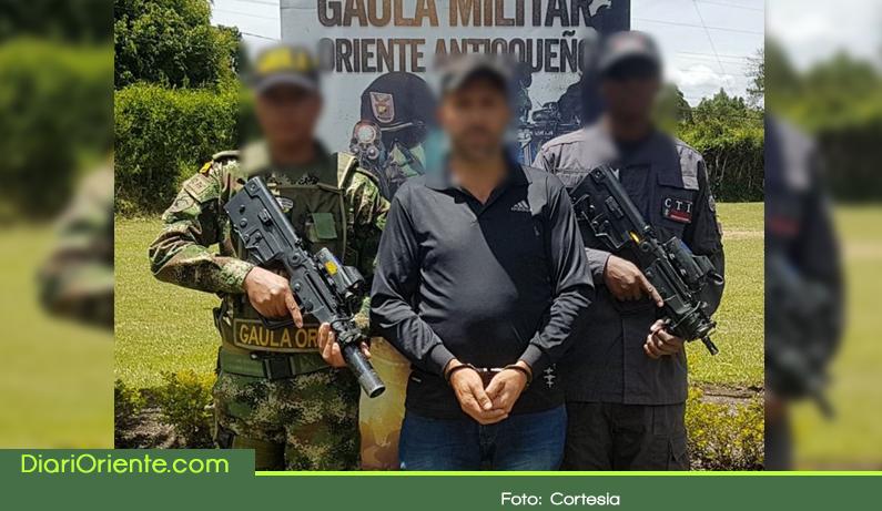 """Photo of Capturan a alias """"Marulanda"""" cabecilla de banda que extorsionaba en el Oriente Antioqueño"""