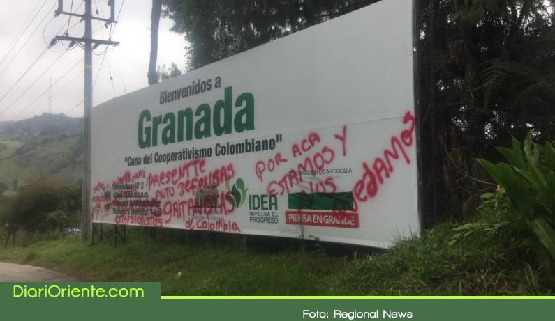 """Photo of Grafitis de """"autodefensas Gaitanista"""" genera preocupación en el municipio de Granada"""