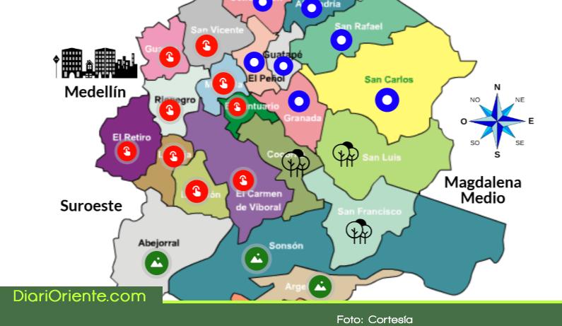 Photo of Crean mapa interactivo con generalidades del Oriente Antioqueño
