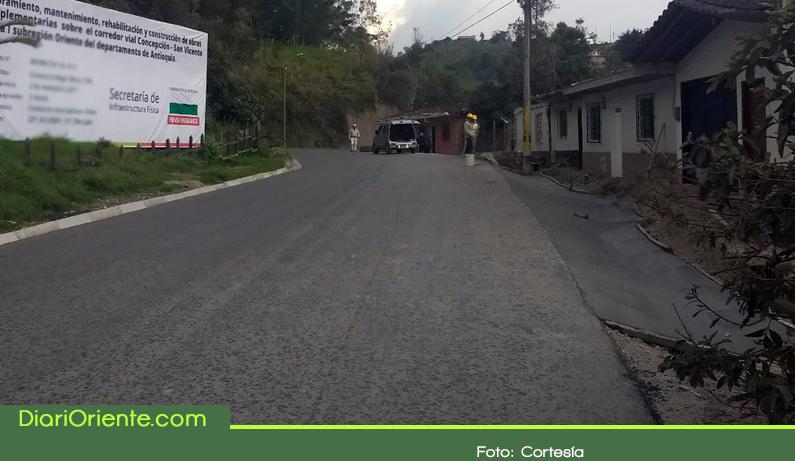 Photo of La pavimentación de la vía San Vicente – Concepción – Alejandría estaría lista en octubre