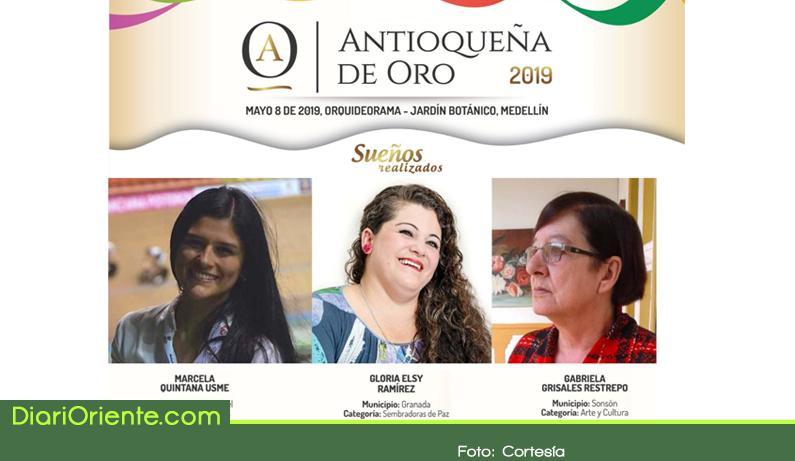 Photo of Tres mujeres del Oriente entre las Antioqueñas de Oro