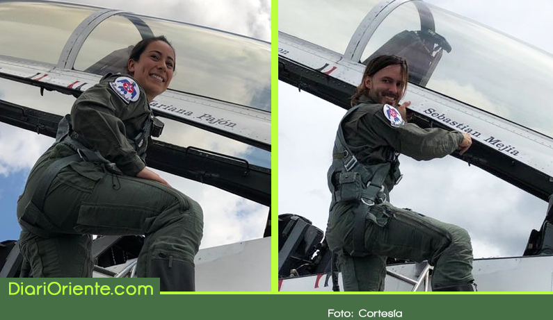 Photo of Dos deportistas colombianos volaron en un F-16 del escuadrón acrobático Thunderbirds