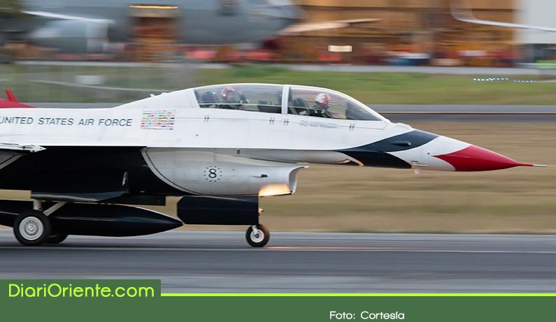 Photo of Los Thunderbirds, escuadrón Acrobático de la Fuerza Aérea de los Estados Unidos llegó al Oriente Antioqueño