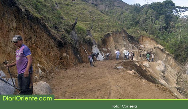 Photo of Campesinos construyen vía entre Argelia y Nariño con recursos propios