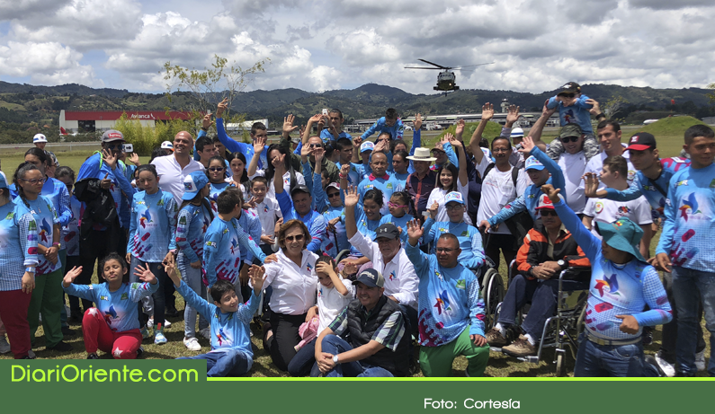 Photo of En Rionegro, niños y jóvenes con discapacidad física recibieron sesión de Helicopterapia