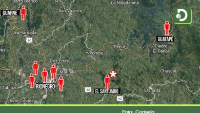 Photo of Así está el mapa de los casos confirmados por coronavirus el Oriente Antioqueño
