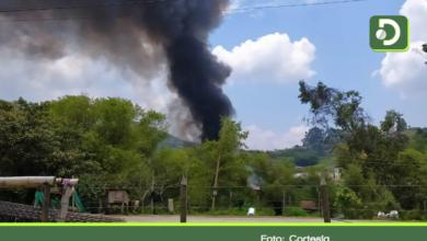 Photo of Incendio de gran magnitud se presentó esta tarde en Marinilla.