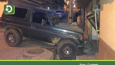 Photo of Abejorral: Conductor, en presunto estado de embriaguez, se estrelló contra un local comercial