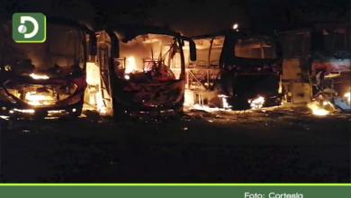 Photo of Millonarias pérdidas: incendio en parqueadero de Cocorná consumió cuatro buses