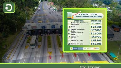 Photo of Peajes Copacabana y Las Palmas: estas son las tarifas que tendrá que pagar en el 2021