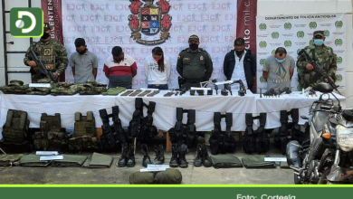 Photo of Capturan en Sonsón siete personas con importante material de guerra