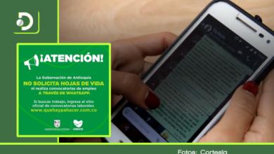 Photo of Gobernación de Antioquia advierte sobre falsas ofertas de empleo enviadas por WhatsApp